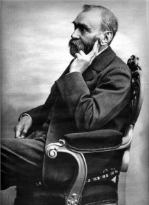 Alfred Nobel, the inventor of dynamite (and who's fortune established the Nobel Prize in 1895)